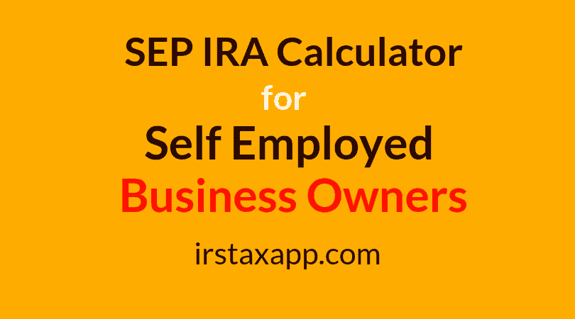 sep ira calculator