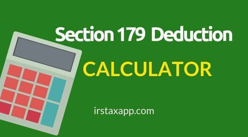 section 179 deduction calculator