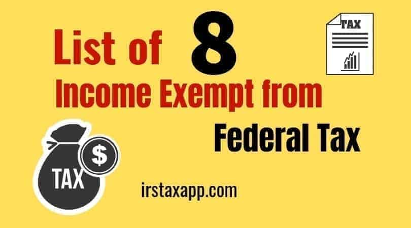 List of Federal Exempt Income