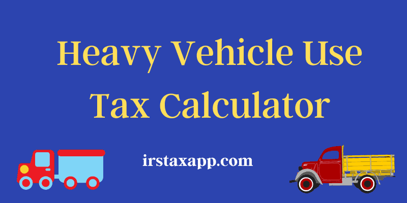 HVUT tax calculator